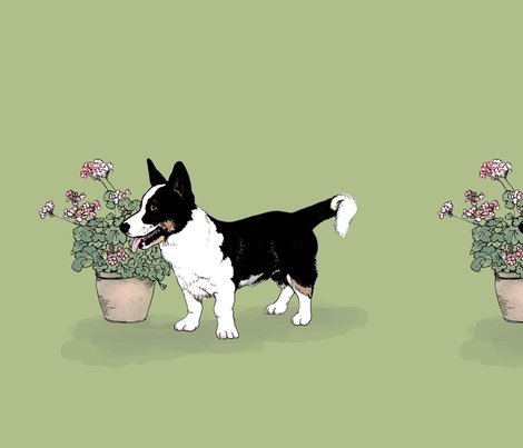 Rrtri_cardigan_welsh_corgi_-_green_fabric_tile_shop_preview