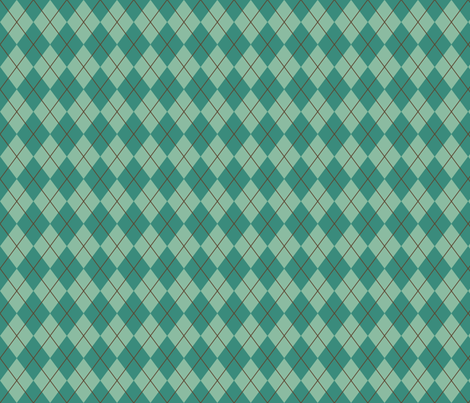 Blue-Green Argyle fabric by saraink on Spoonflower - custom fabric
