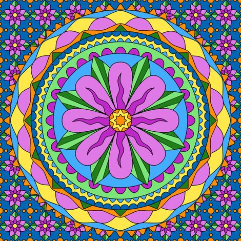 Flower Mandala-pink fabric by shala on Spoonflower - custom fabric