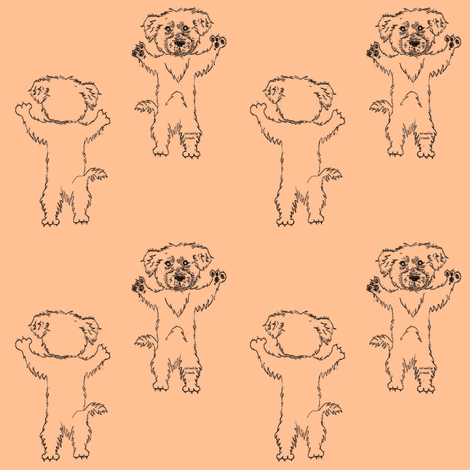 Dancing Scooty Pup fabric by grannynan on Spoonflower - custom fabric