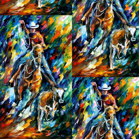 Cowboy fabric by afremov_designs on Spoonflower - custom fabric