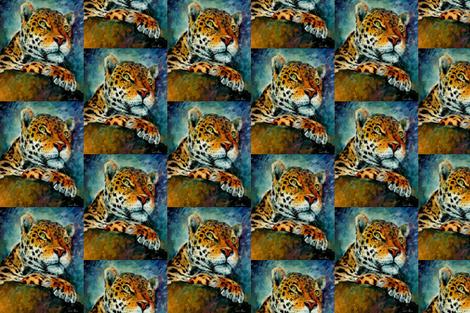 Leopard fabric by afremov_designs on Spoonflower - custom fabric