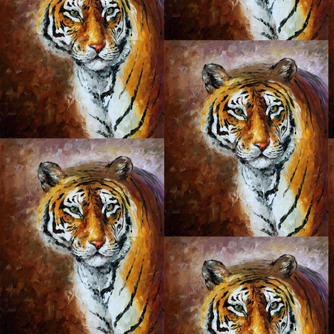 Lonely Tiger fabric by afremov_designs on Spoonflower - custom fabric