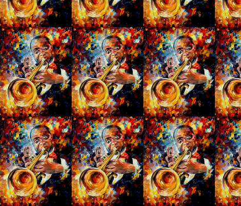 Louis Armstrong fabric by afremov_designs on Spoonflower - custom fabric