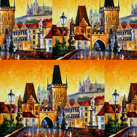 Prague-Old City fabric by afremov_designs on Spoonflower - custom fabric