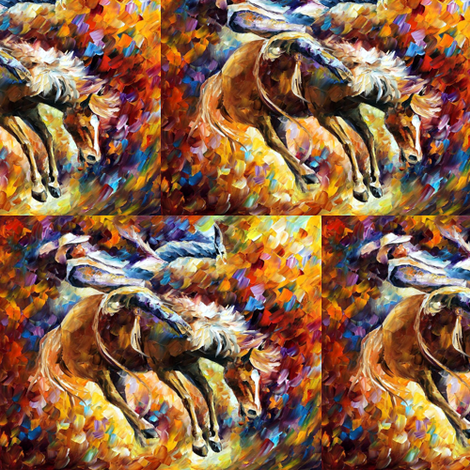 Rodeo fabric by afremov_designs on Spoonflower - custom fabric
