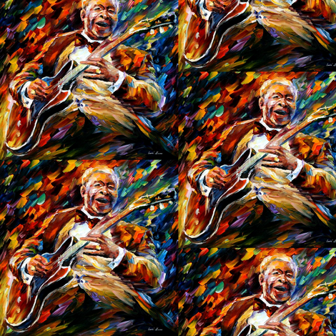 BB King fabric by afremov_designs on Spoonflower - custom fabric