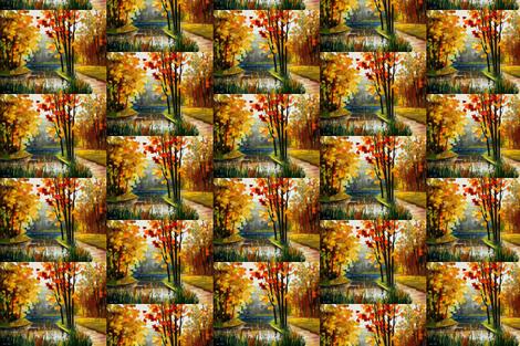 Forest Stream fabric by afremov_designs on Spoonflower - custom fabric
