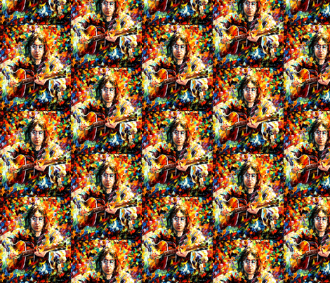 John Lennon fabric by afremov_designs on Spoonflower - custom fabric