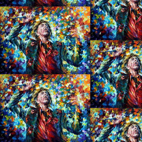 Mick Jagger fabric by afremov_designs on Spoonflower - custom fabric