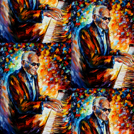 Ray Charles fabric by afremov_designs on Spoonflower - custom fabric