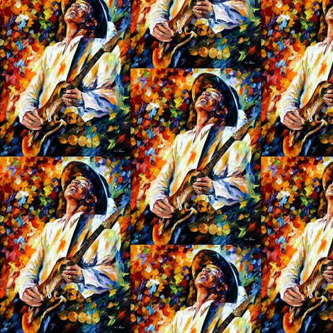 Stevie Ray Vaughan fabric by afremov_designs on Spoonflower - custom fabric