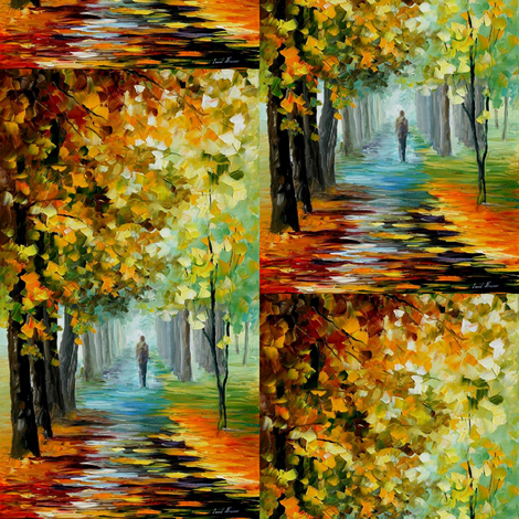 The Music of The Fall fabric by afremov_designs on Spoonflower - custom fabric