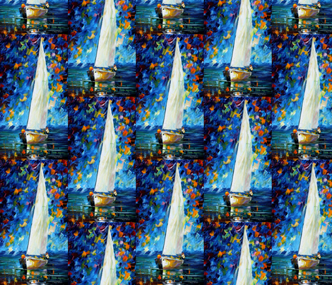White Sail fabric by afremov_designs on Spoonflower - custom fabric