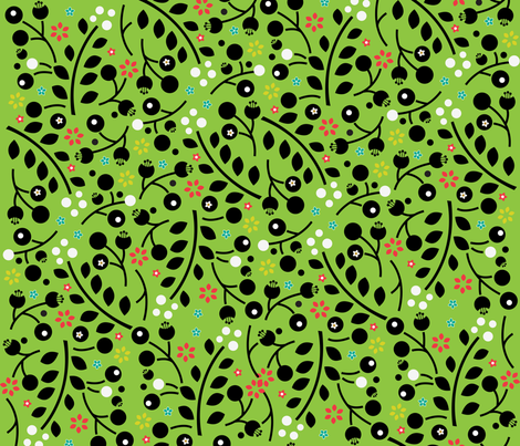 gumnut flower pattern fabric by small_pie on Spoonflower - custom fabric