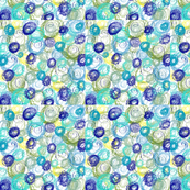 Twirly Circles in Ocean Blue