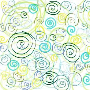 Simply Swirls in Ocean Blue