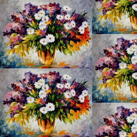 Lilac_and_Chamomile fabric by afremov_designs on Spoonflower - custom fabric