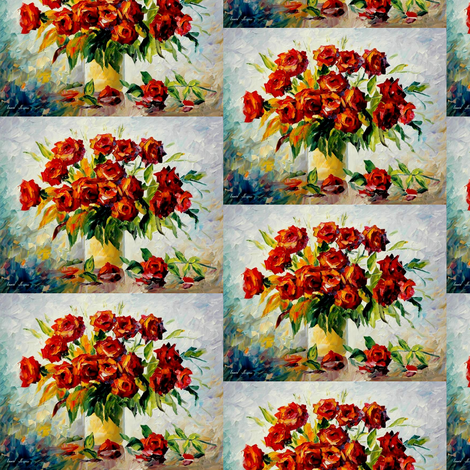 Red On White fabric by afremov_designs on Spoonflower - custom fabric