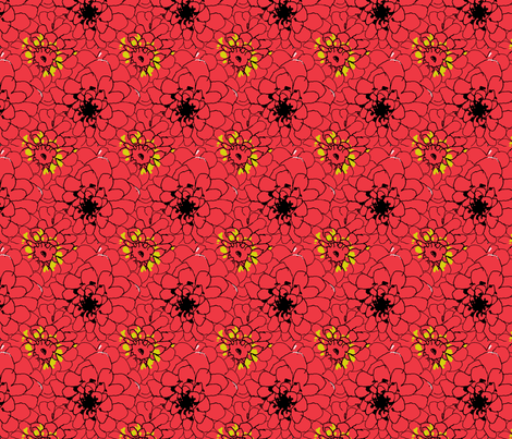 dahlia_45_Picnik_collage-ch fabric by khowardquilts on Spoonflower - custom fabric