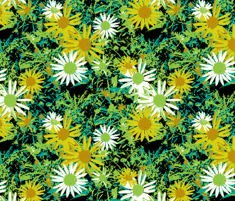 Wild Daisy - Botanical Colours fabric by inscribed_here on Spoonflower - custom fabric