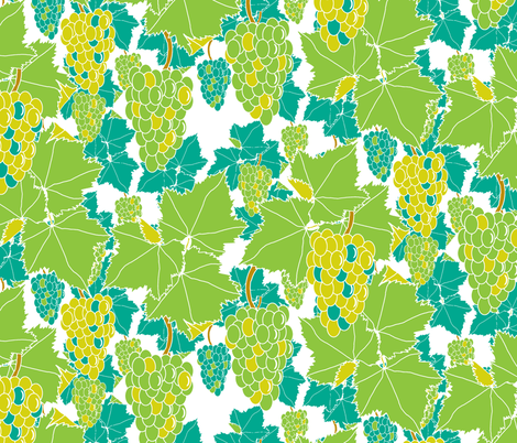 Fresh Grapes fabric by inscribed_here on Spoonflower - custom fabric