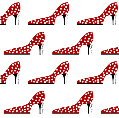 ooh la la! sexy shoes fabric by paragonstudios on Spoonflower - custom fabric