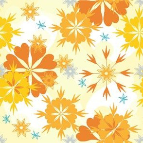 flowers and snowflakes