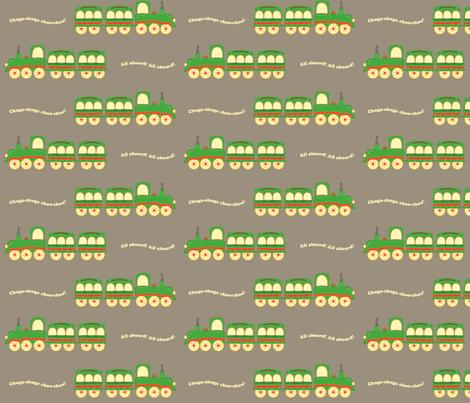 grey_background_train fabric by featheredneststudio on Spoonflower - custom fabric