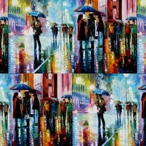 Bus Stop Under The Rain