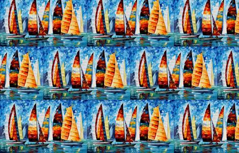 Sail Regatta fabric by afremov_designs on Spoonflower - custom fabric