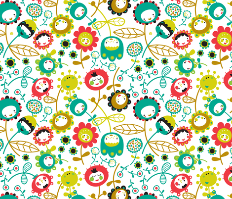 funny flowers fabric by bora on Spoonflower - custom fabric