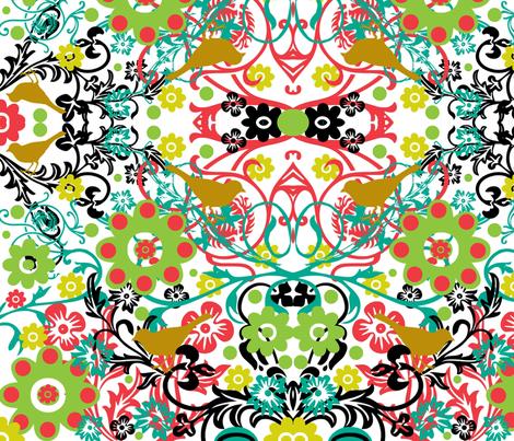 Whimsical Botanicals fabric by hipmama on Spoonflower - custom fabric