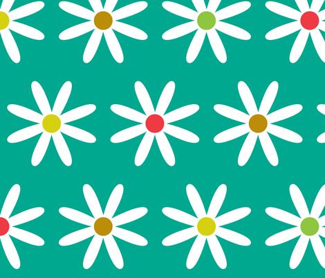 Daisy Dots fabric by annaleeblysse on Spoonflower - custom fabric