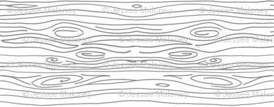 Wonky Wood - Gray Lines - Horizontal