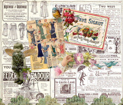 Vintage Advertising Collage