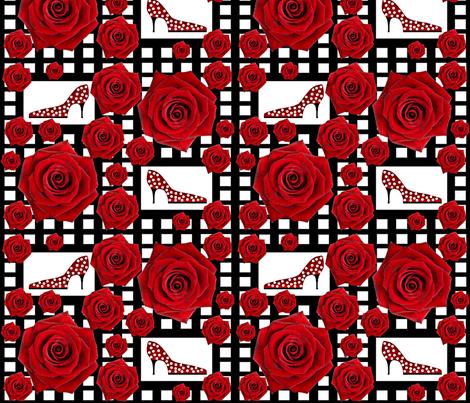 Ooh la la! Red rose fabric by paragonstudios on Spoonflower - custom fabric