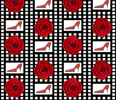 Ohh la la! Red rose fabric by paragonstudios on Spoonflower - custom fabric