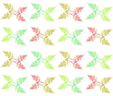Botanical_Fern_white_Kalou_2011 fabric by artonsurface on Spoonflower - custom fabric