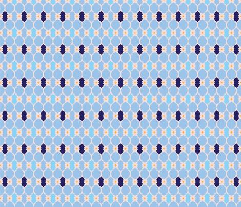 The Blue fabric by artonsurface on Spoonflower - custom fabric