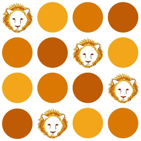 Lion-Dot fabric by jmckinniss on Spoonflower - custom fabric