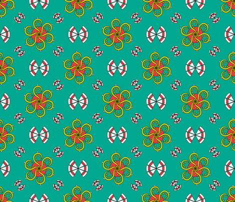 flowers-and-leaves201101 by dingding fabric by dingding on Spoonflower - custom fabric