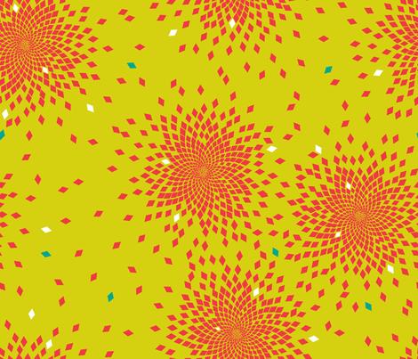 Fibonacci in Red fabric by candyjoyce on Spoonflower - custom fabric