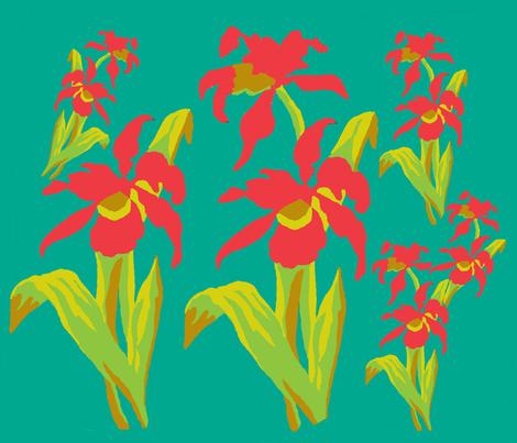 An Iris Inspiration fabric by karenharveycox on Spoonflower - custom fabric