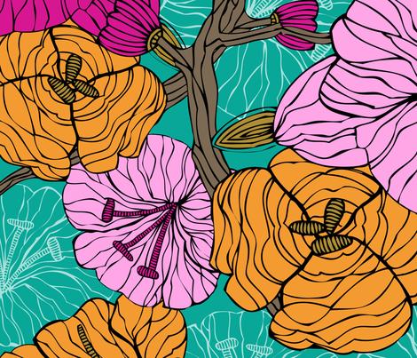 blue fabric by valentinaharper on Spoonflower - custom fabric