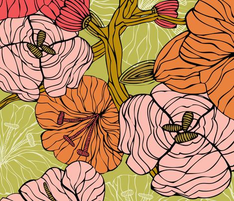 green fabric by valentinaharper on Spoonflower - custom fabric