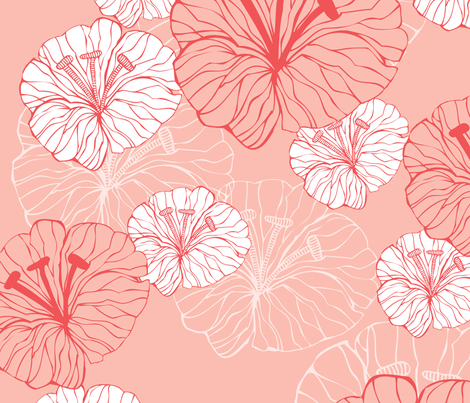 pink_flowers fabric by valentinaharper on Spoonflower - custom fabric