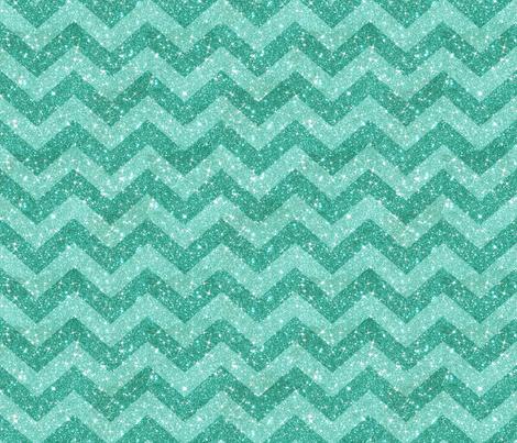 Glitter Chevron Blue on Blue fabric by cynthiafrenette on Spoonflower - custom fabric