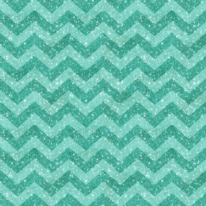 Glitter Chevron Blue on Blue