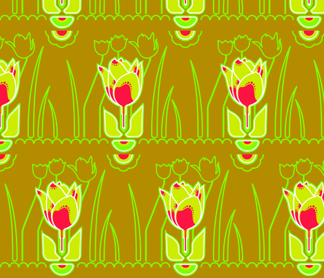 keukenhof tulips fabric by aperiodic on Spoonflower - custom fabric